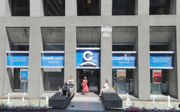 Coast Capital Branch at 1075 West Georgia in Vancouver